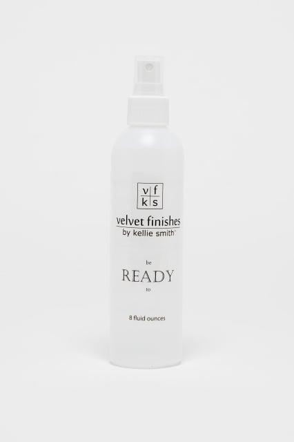 Ready from Velvet Finishes.  It prepapes surfaces for Velvet Finishes paint. The Creativity Exchange.
