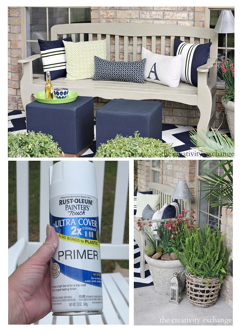 painting outdoor furniture and accessories. Black Bedroom Furniture Sets. Home Design Ideas