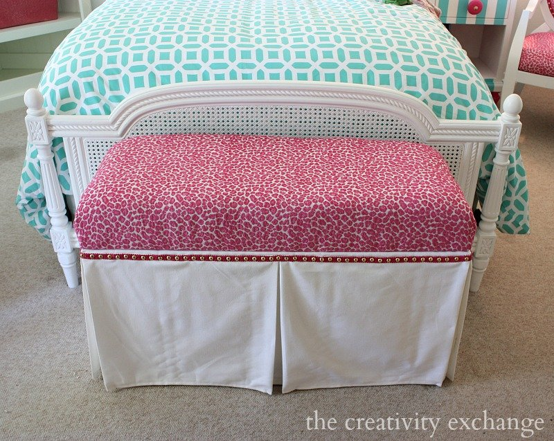Easy Faux Panel Trick for Dressing Up Benches and Ottomans