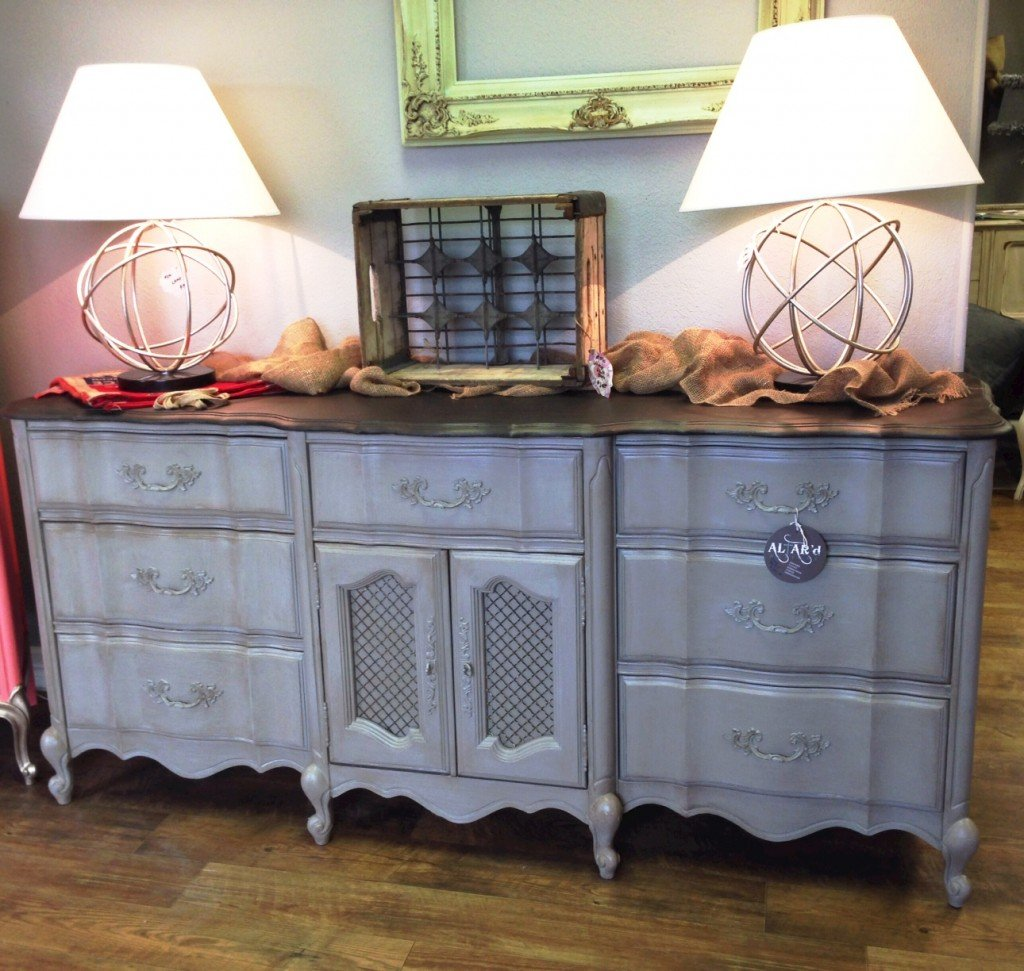 Dresser painted with Velvet Finishes in the color Oppulent. From Altar'd