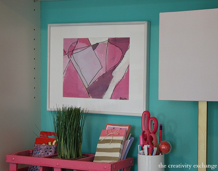 creative ways to incorporate a child's artwork into their room.  The Creativity Exchange