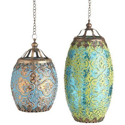 Bohemian Lanterns on sale at Pier One for $9.95 and $14.95.  The Creativity Exchange