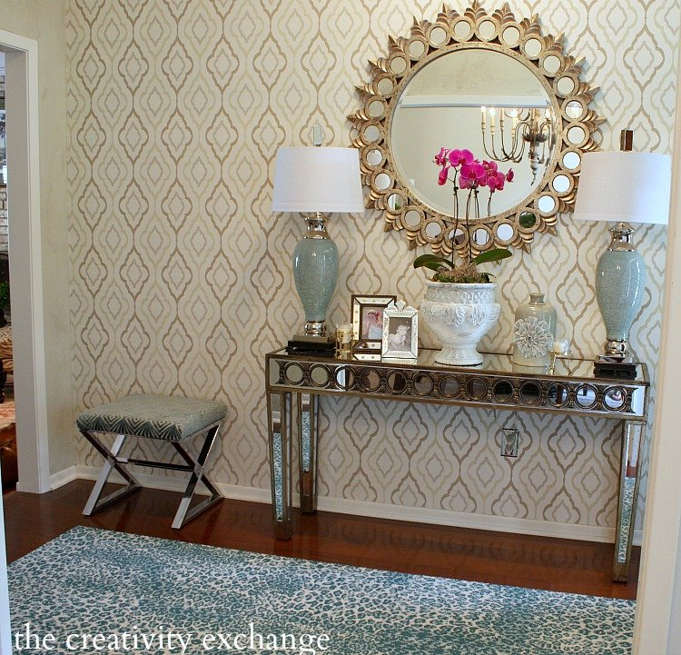 Entry way revamp before and after. The Creativity Exchange