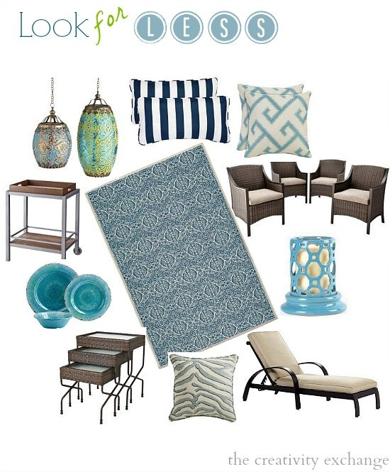 The look for less outdoor furniture and accessories for Great deals on outdoor furniture