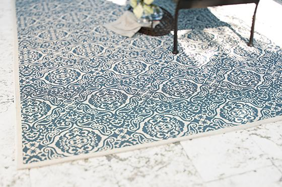 Doris outdoor rug on sale at Home Decorators Catalog for $79.00.  The Creativity Exchange