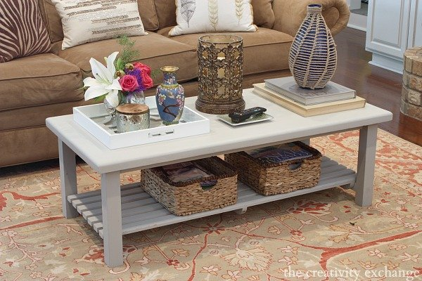 Coffee Table Paint Revamp Using The New Furniture Paint Called Velvet  Finishes. No Priming And