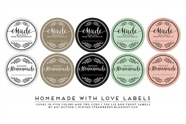 Free printable Homemade with Love Printables from WorldLabel.