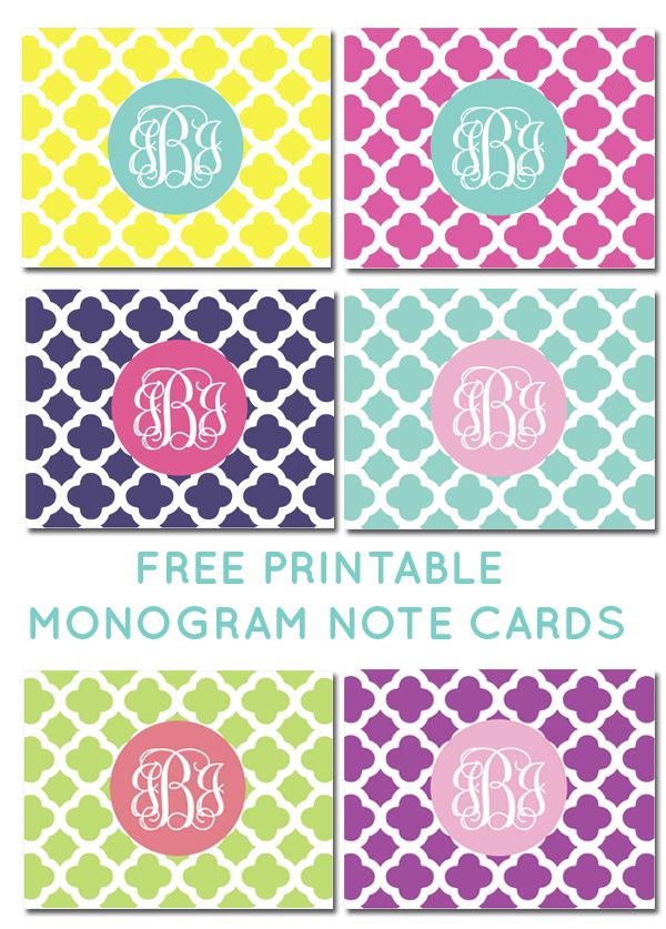 Fabulous chic free printables for Free printable monogram