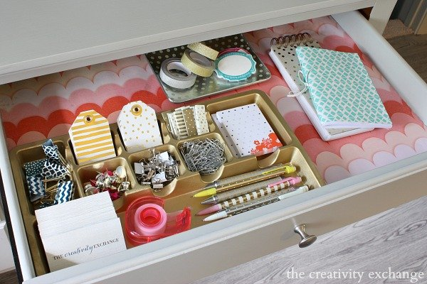 Quick Trick For Turning Wring Paper And Fabric Into Pretty Durable Drawer Liners From