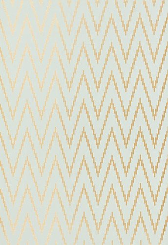 Schumacher Kasari Ikat Wallpaper in Aquamarine.  Wallpaper Crush.  The Creativity Exchange