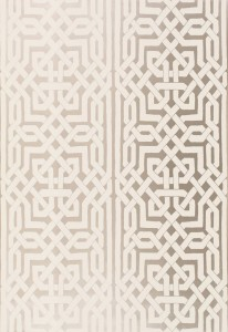 Schumacher Malaga Wallpaper in Silver.  Wallpaper Crush.  The Creativity Exchange