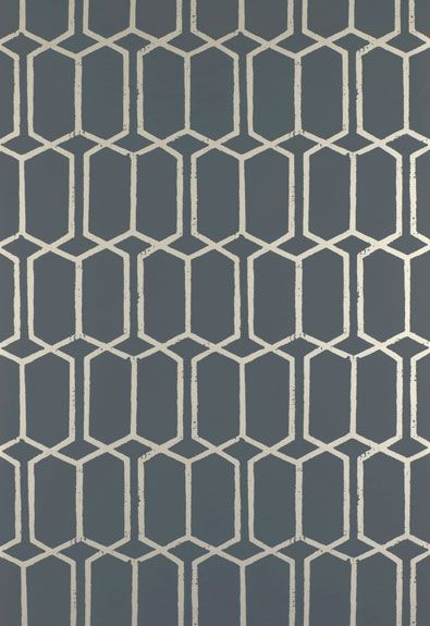 Schumacher Modern Trellis Wallpaper. Wallpaper Crush.  The Creativity Exchange