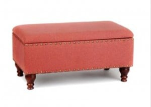 Spice Linen Storage Bench from Kirkland's. The Creativity Exchange