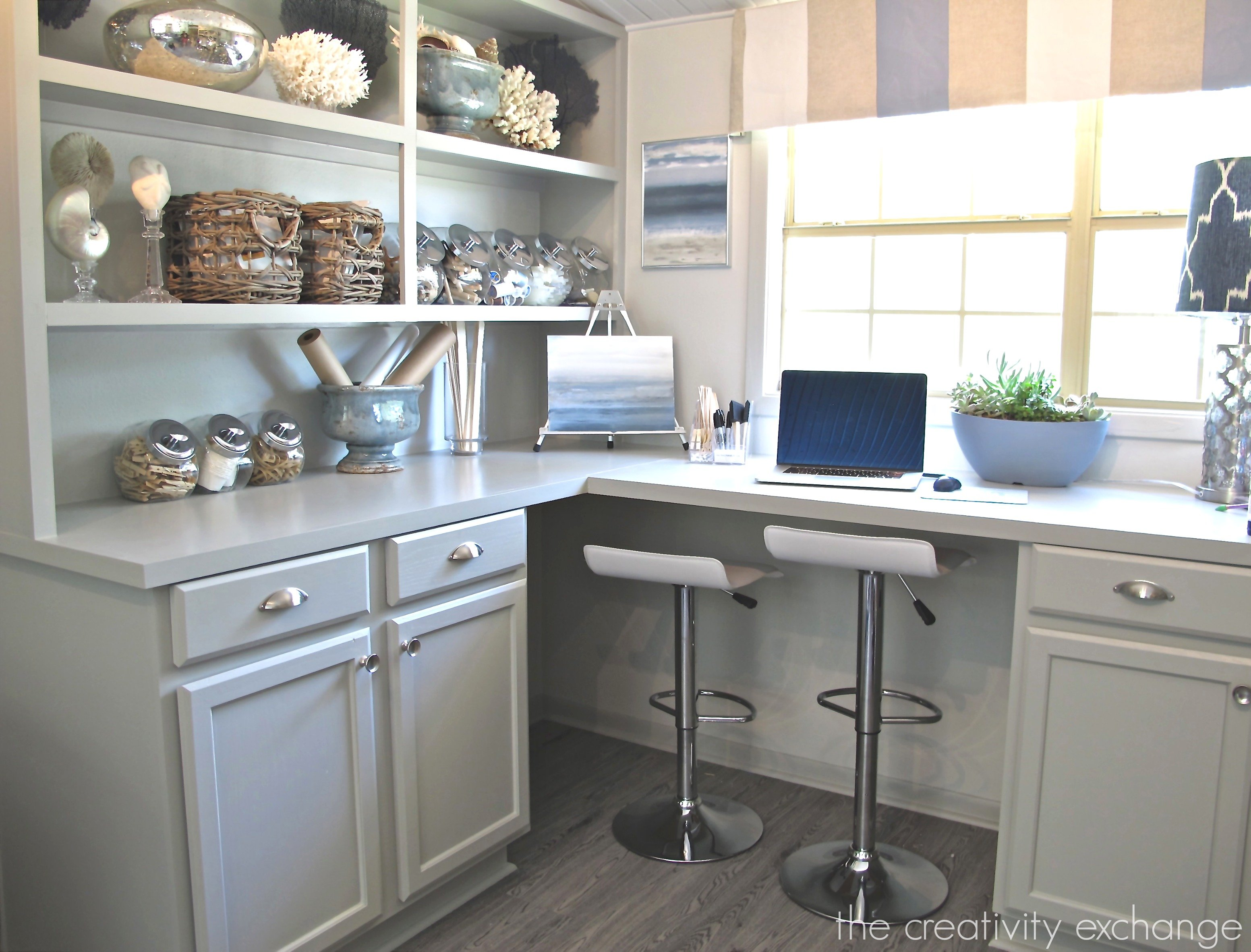 Built In Cabinets Painted With