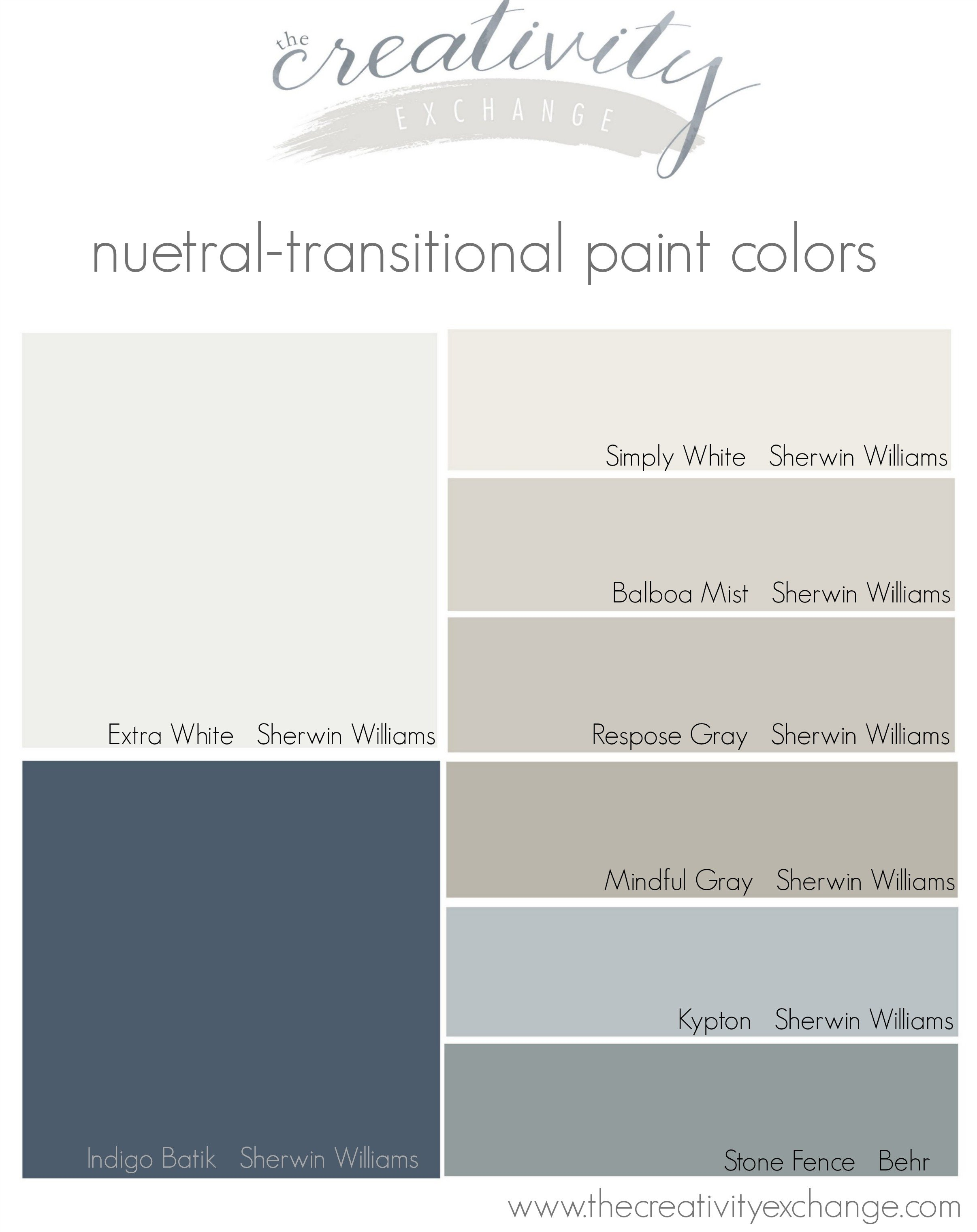 Choosing A Paint Color Palette For The Whole Home The
