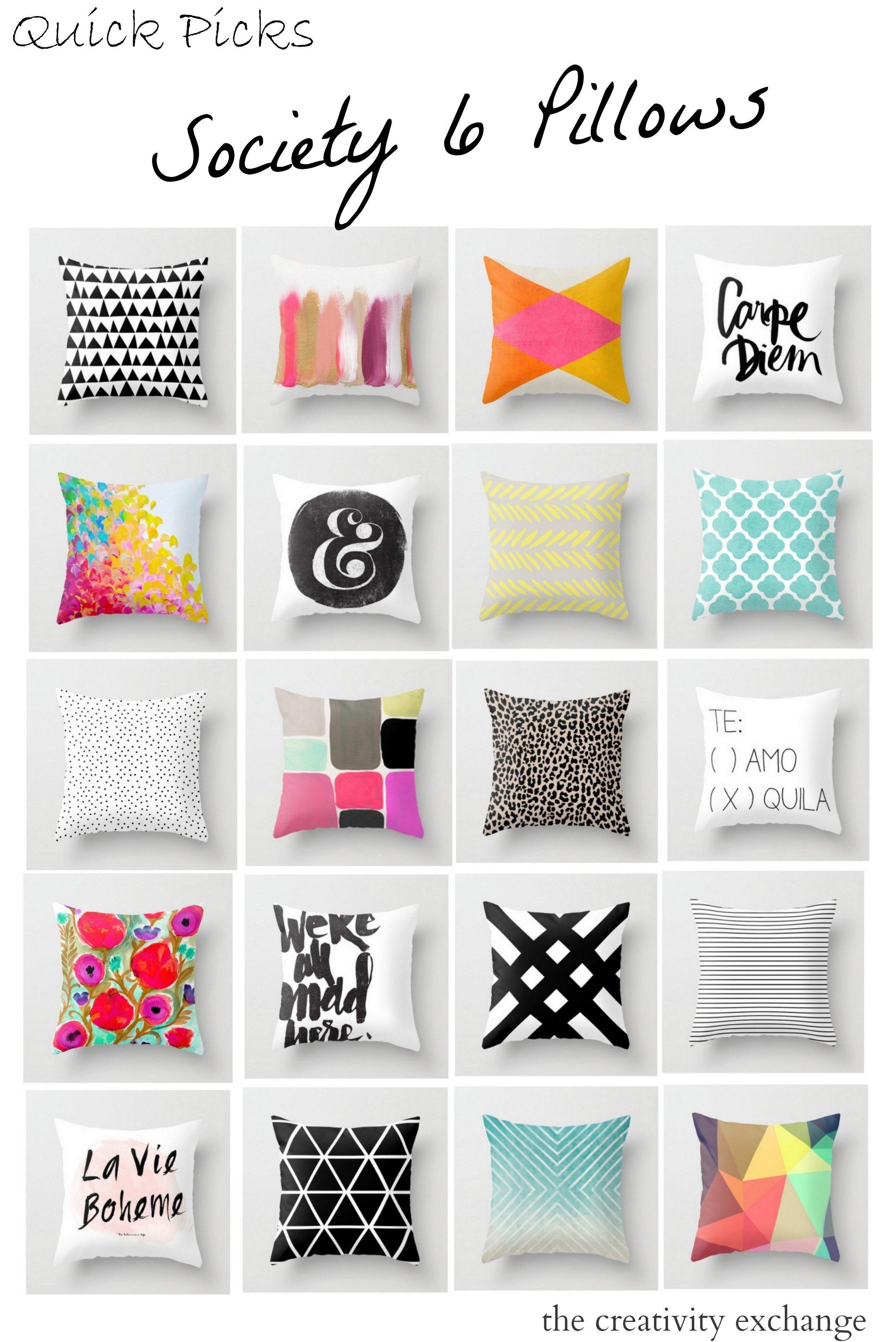 Quick Picks Society 6 Pillows