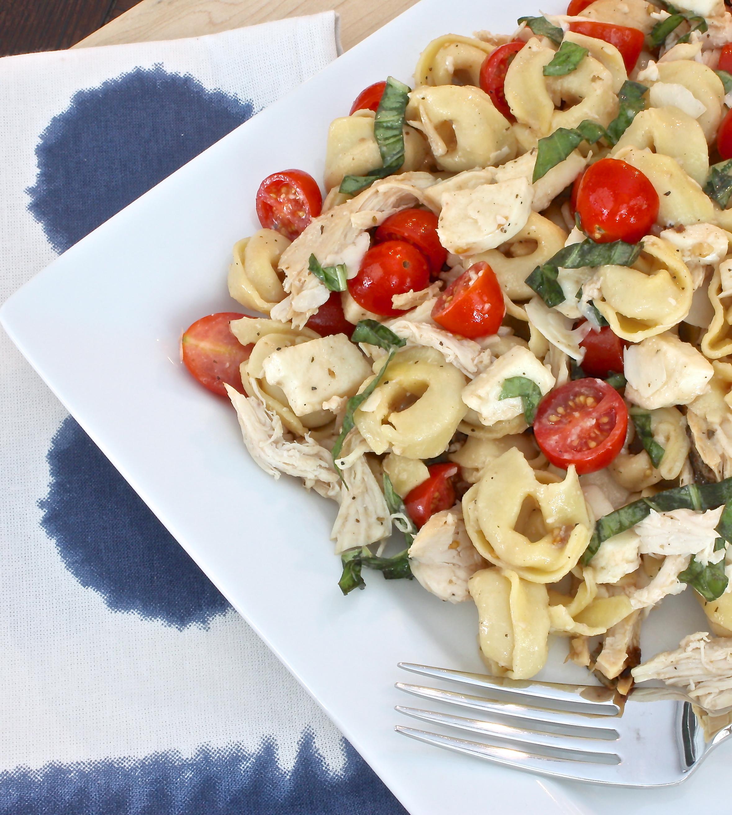 Chicken Caprese Tortellini Salad