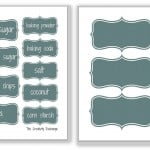 Free Printable Baking and Pantry Labels