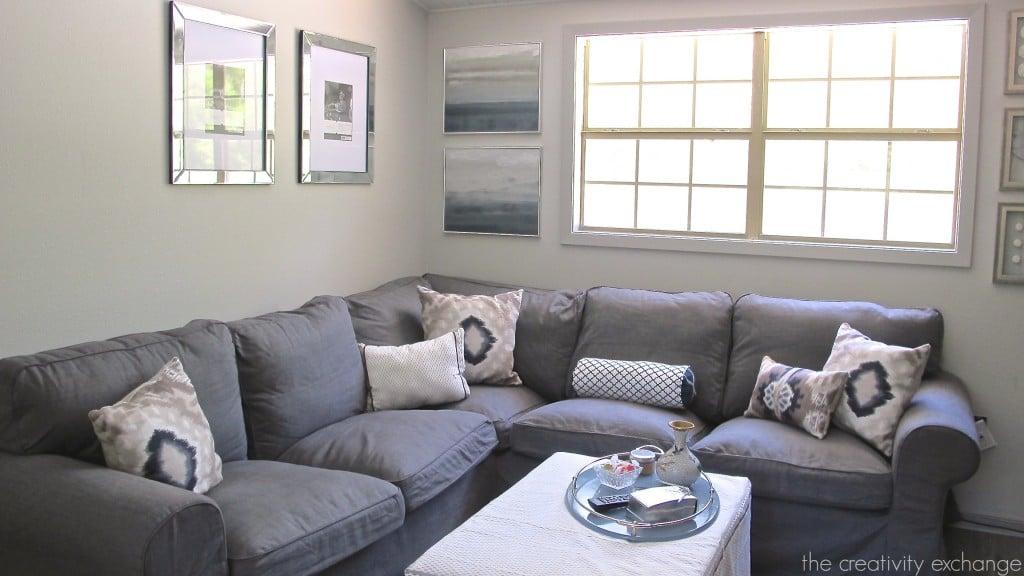 Sherwin Williams Repose Gray Living Room