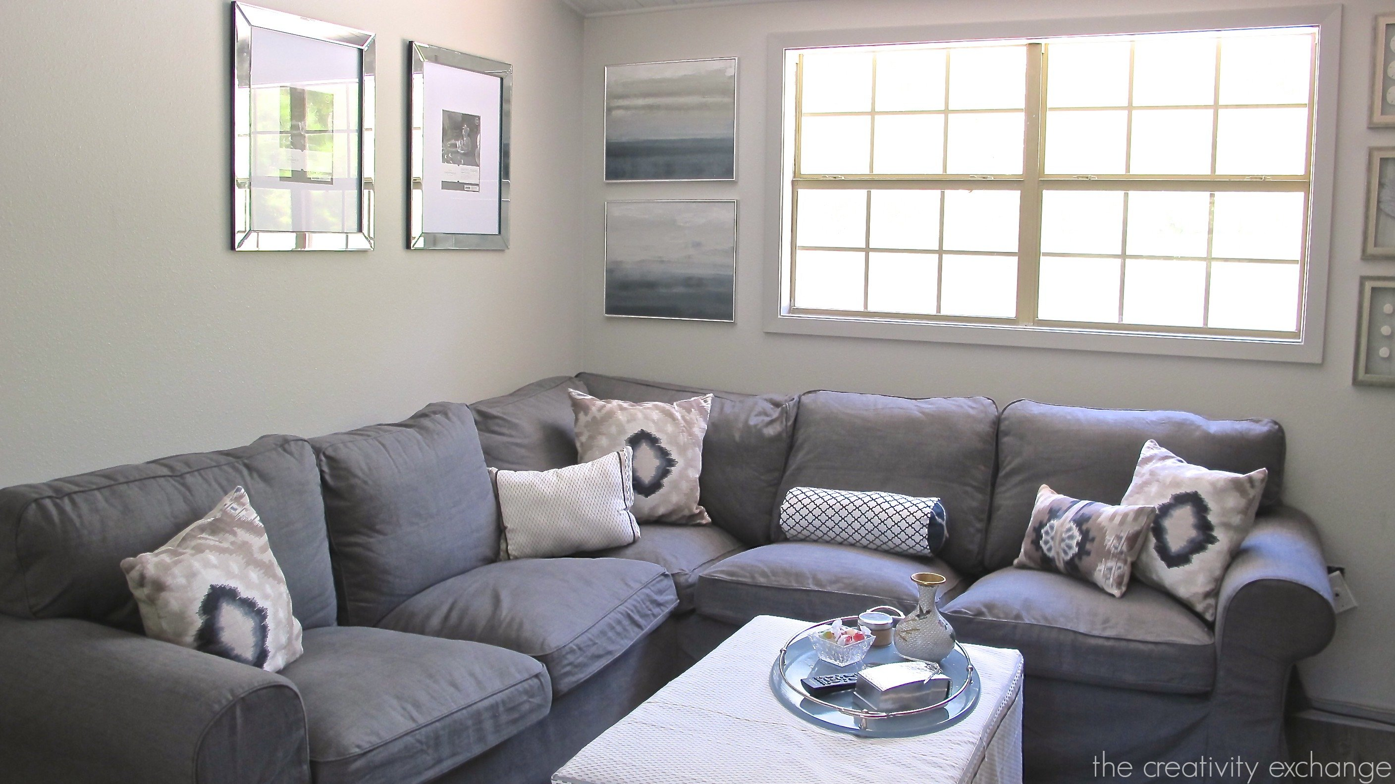 Living Room Pictures Repose Gray Wall
