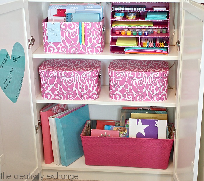 Creative organizing ideas for kids spaces. The Creativity Exchange