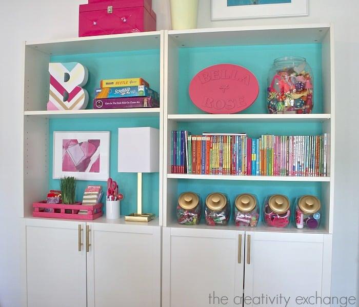 Creative ways to organize Billy bookshelves in children's spaces. The Creativity Exchange