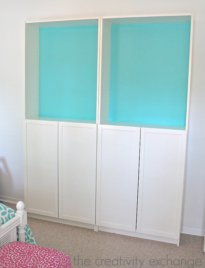 Creative ways to organize the Ikea Billy bookshelves in children's spaces. The Creativity Exchange