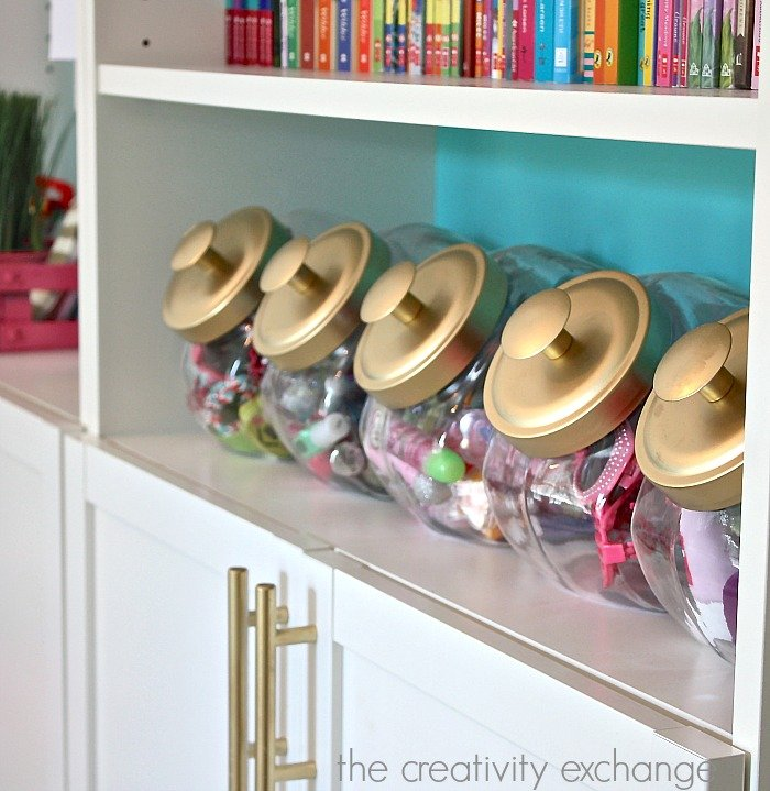 Creative ways to organizing kid spaces with Billy bookshelves. The Creativity Exchange