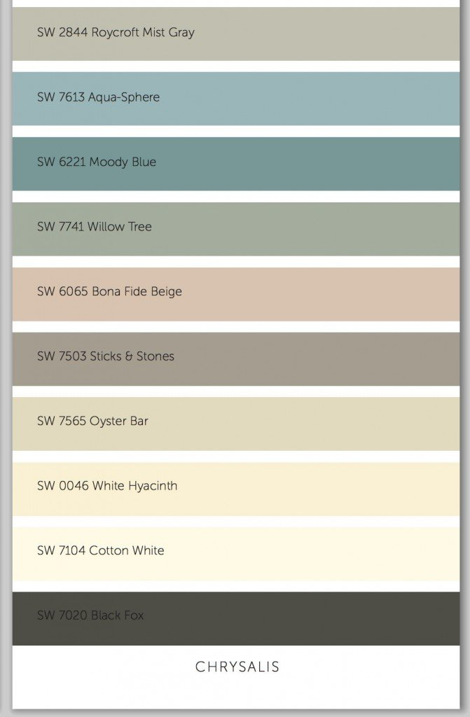 2015 Sherwin Williams paint color forecast Chrysalis.