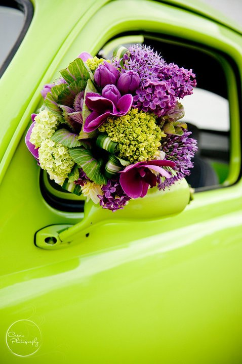 Shades of purple and green for fall.