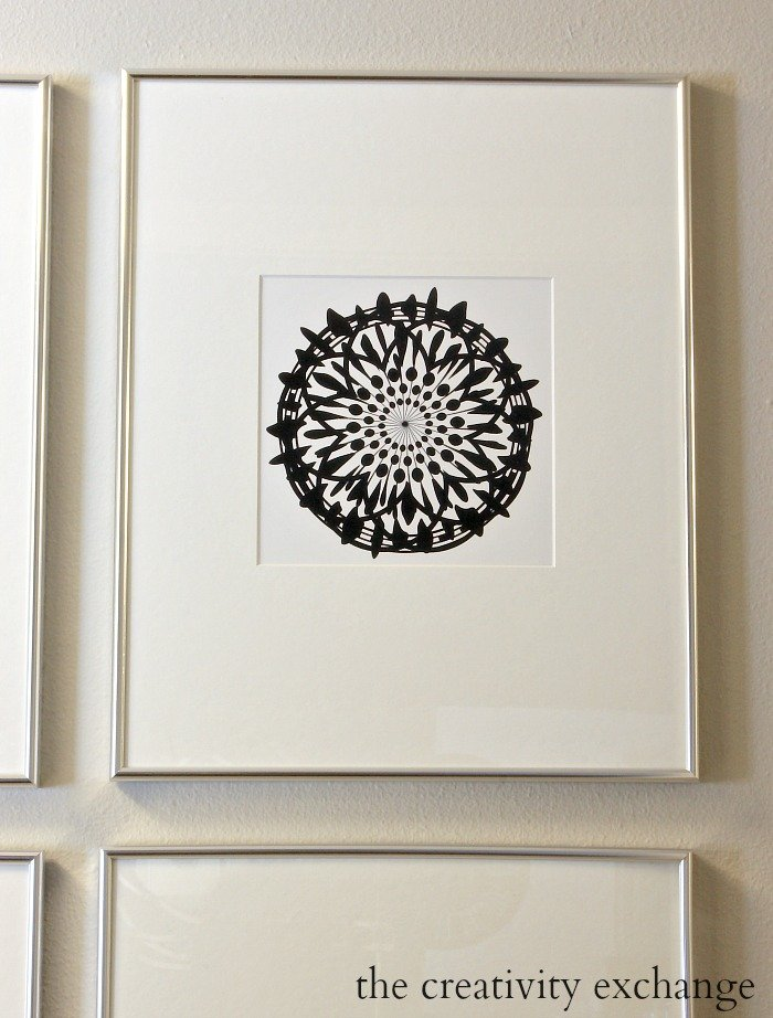 Free printable collection of four modern black and white prints. Print 2. The Creativity Exchange