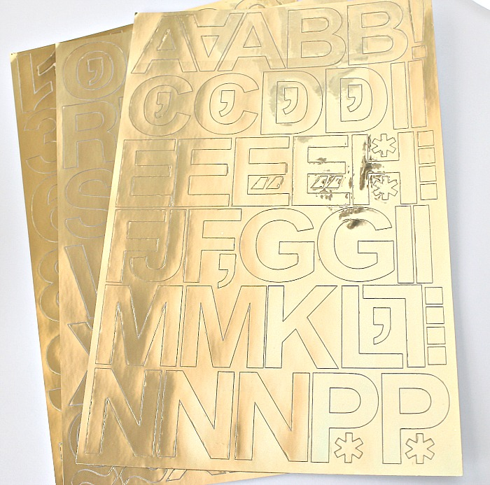 Monogramming Tricks With Vinyl Gold Foil Letters