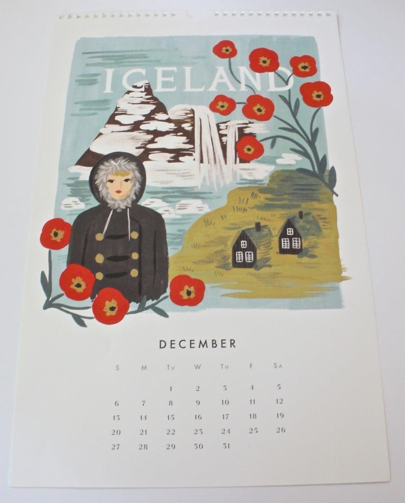 Framing calendar prints.