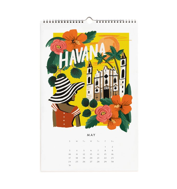 Travel the World 2015 Calendar from Rifle Paper Co. The Creativity Exchange