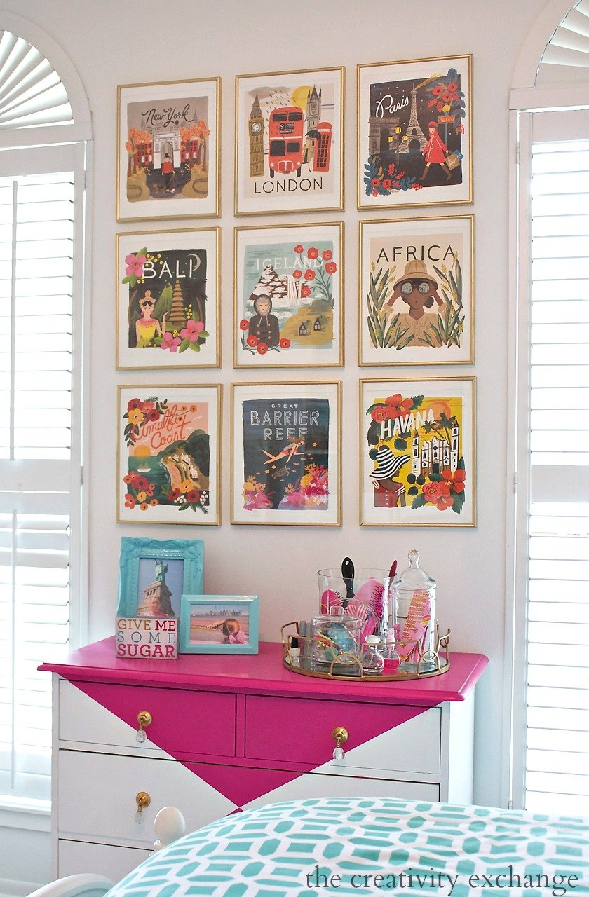 2016 rifle paper co frameable calendars and gallery wall for Decoracion con marcos