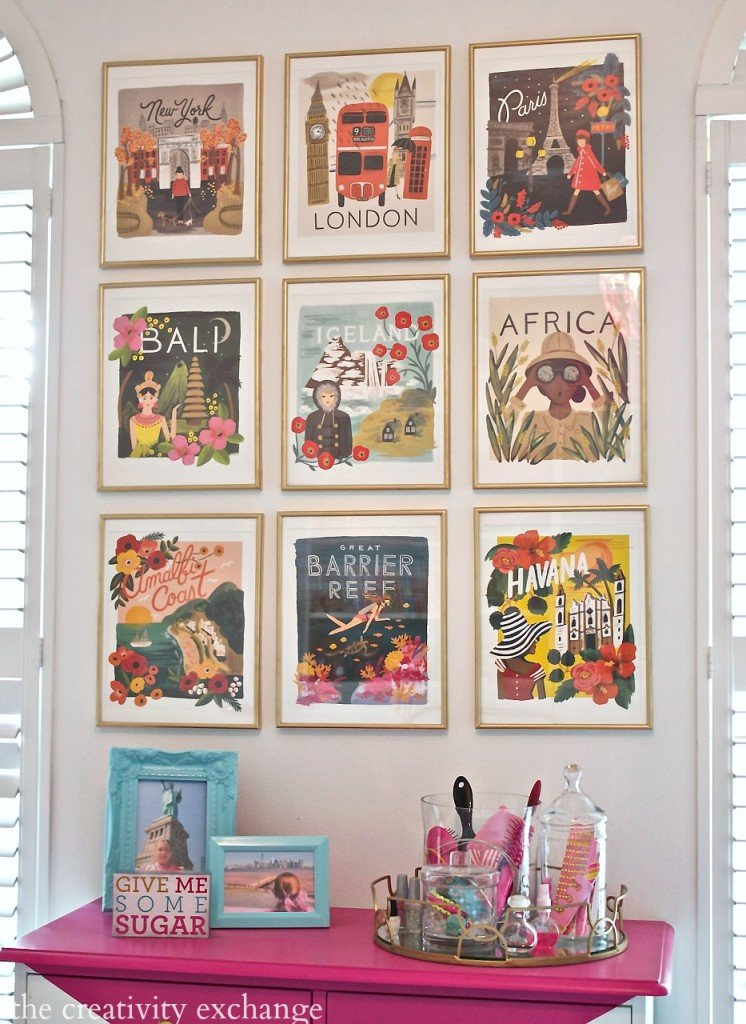 Calendar Vintage Travel Posters : Diy framed calendar prints