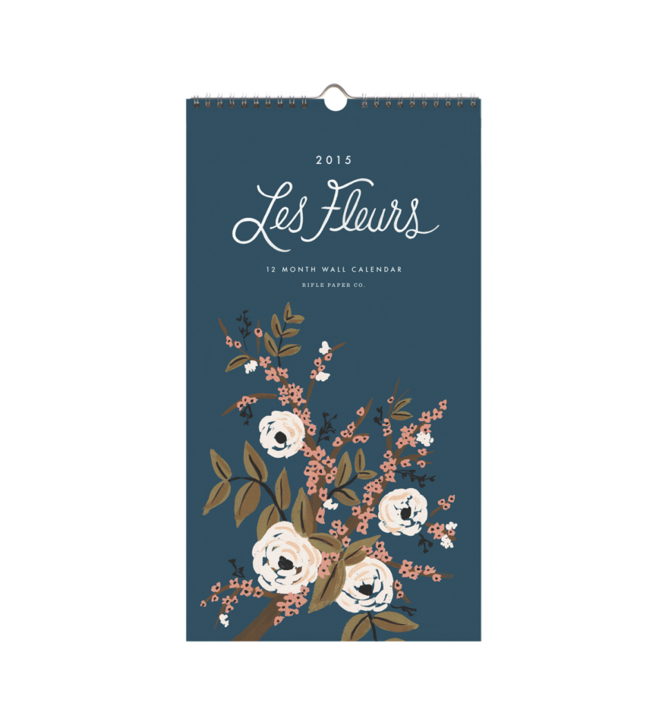 Les Fleur 2015 Wall Calendar from Rifle Paper Co.  Perfect for framing.