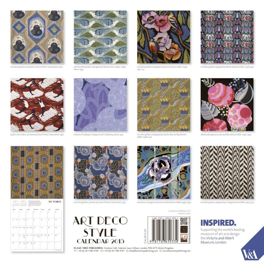 Art Deco Wall Calendar 2015. Perfect calendar for framing artwork for gallery wall.