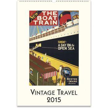 Cavallini Vintage Travel Calendar