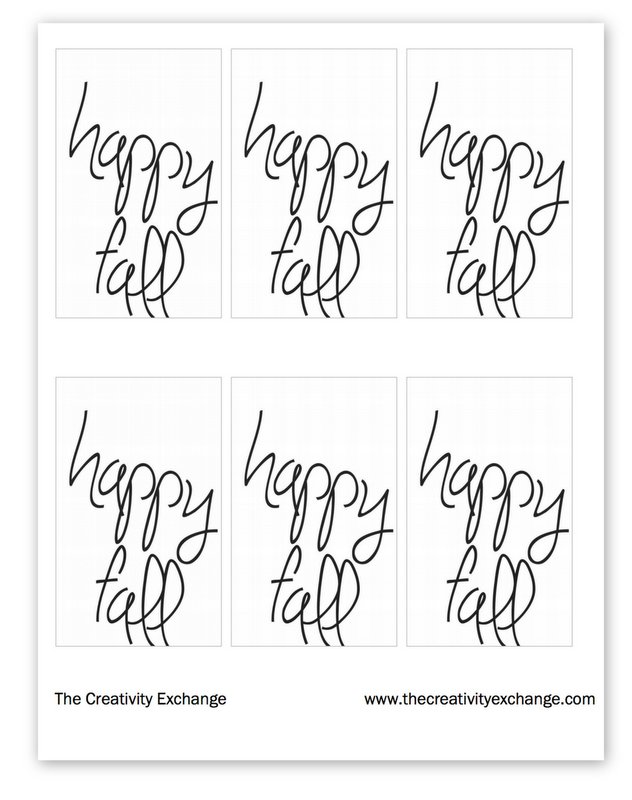 Free printable Happy Fall Gift Tags for Homemade Gifts.