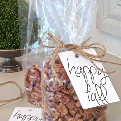 Easy Sugared Pecans {3 Ways} with Printable Gift Tag