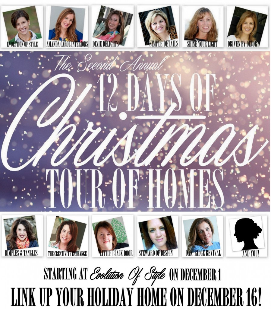 12 Days of Christmas Tour of Homes Starting on Dec. 1st.