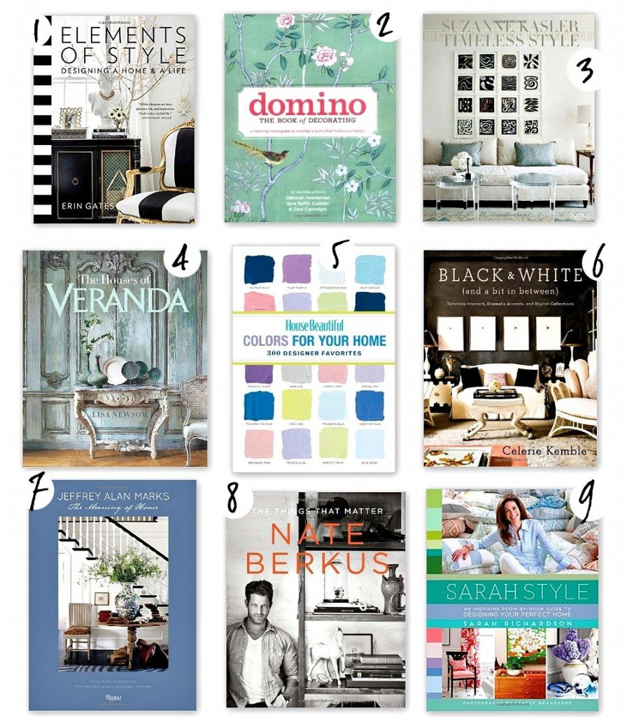Best design and decorating books for styling and choosing paint colors. The Creativity Exchange