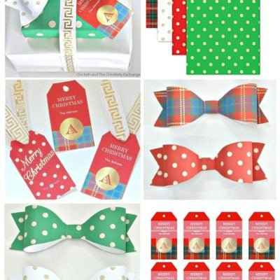 Free Christmas Printables: Gift Tags, Wrap Paper and Bows