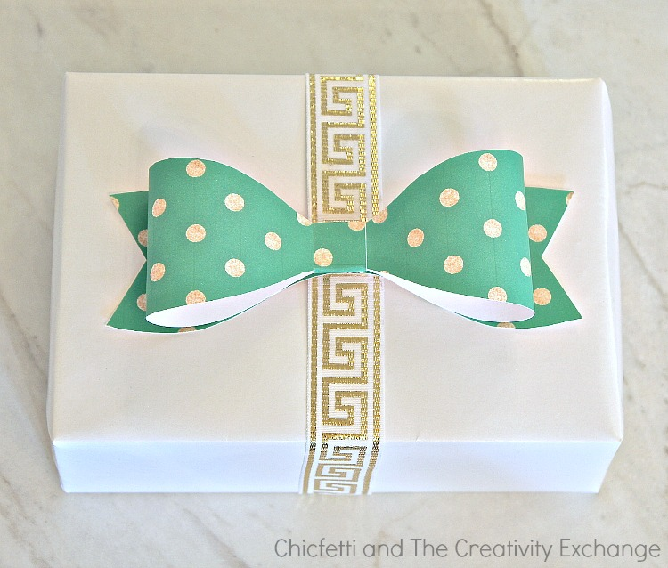 Free printable customizable gift tags that you type in your name, wrapping paper and bows. From Chicfetti and The Creativity Exchange