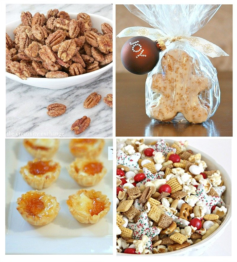 Favorite Christmas Recipes and Snacks and printable gift tag. The Creativity Exchange