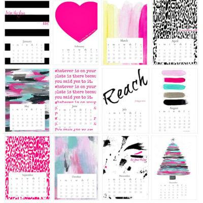Free Printable 2015 Seize the Year Desktop Calendar