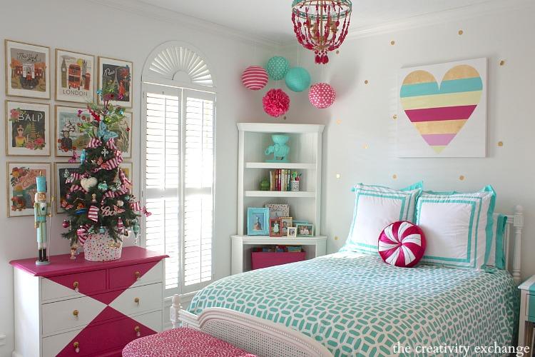 Little girl Christmas tree. The Creativity Exchange