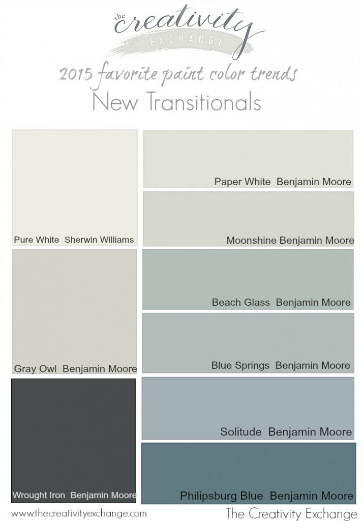 2015 favorite paint color trends. The new transitional colors. The Creativity Exchange