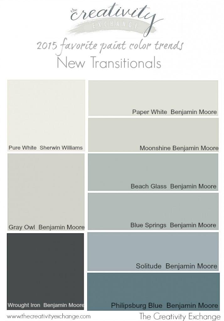 2017 Favorite Paint Color Trends The